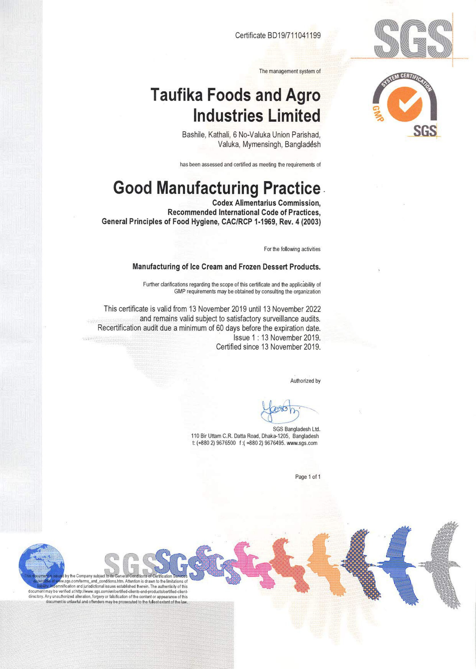 Good Manufacturing Practice Certification